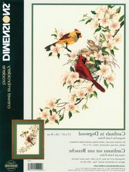 Cardinals In Dogwood Crewel Kit-11X15 Stitched In Wool & Thr