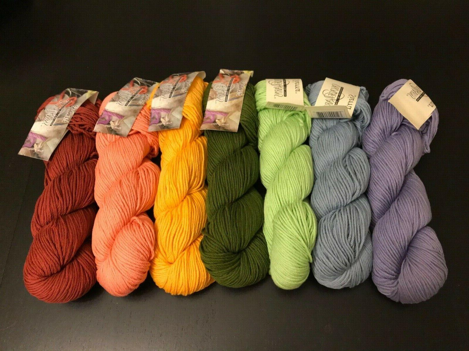 sierra worsted yarn lot of 7 assorted
