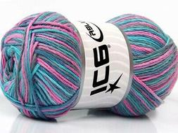 Lot of 4 x 100gr Skeins Ice Yarns NATURAL COTTON COLOR  Yarn
