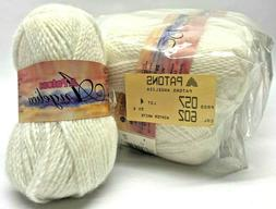 New Lot 10 50g Skeins Patons Angelica Yarn Winter White 602