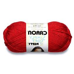 Simply Soft Party Yarn-Rich Red Sparkle