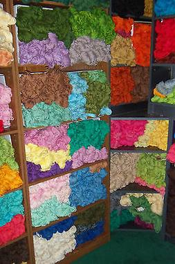 Vintage Aunt Lydia's Rayon/Cotton Rug Yarn 70 Yards - Colors